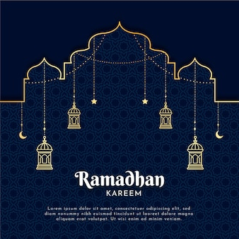 Flat ramadan illustration