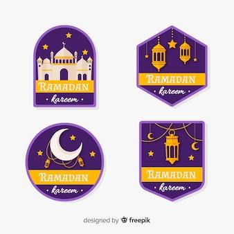 Flat ramadan label collection