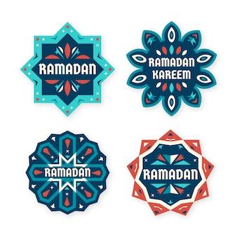 Коллекция плоских рамадановых этикеток
