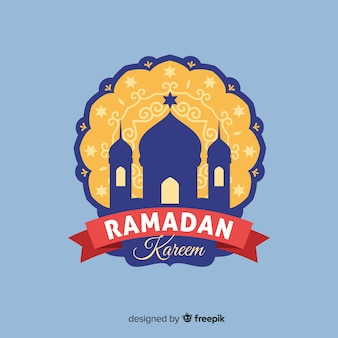 Flat ramadan label