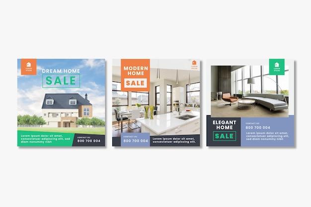 Шаблоны сообщений instagram плоская недвижимость
