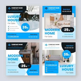 Modelli di post instagram immobiliari piatti