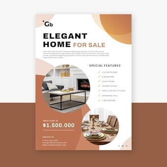 Poster immobiliare piatto con foto