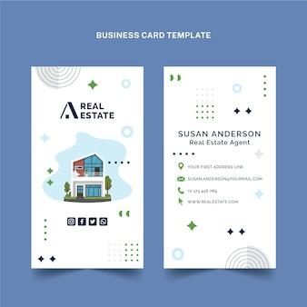 Плоская вертикальная визитная карточка недвижимости