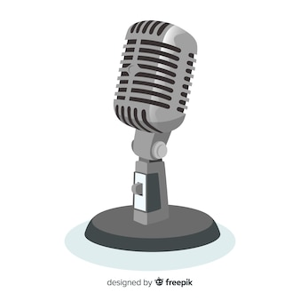 Flat realistic microphone background