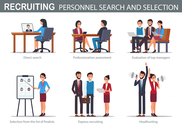 Flat recruiting personnel search and selection.