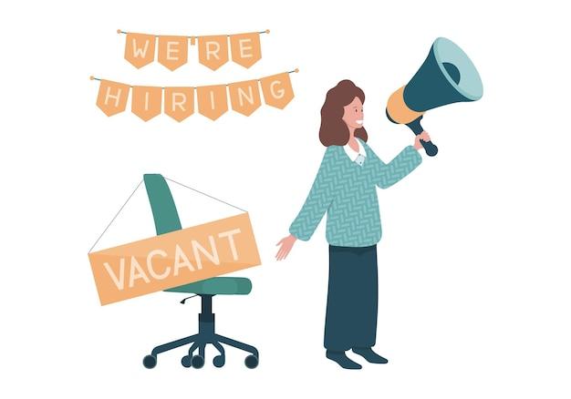 Flat recruitment concept illustration