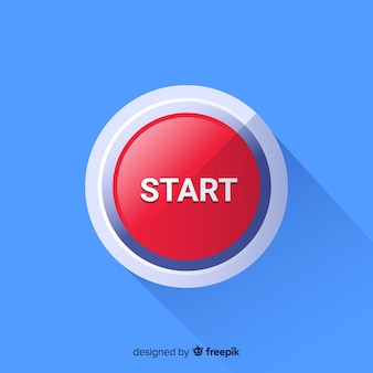 Flat red start button