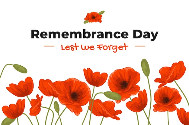 Flat remembrance day background