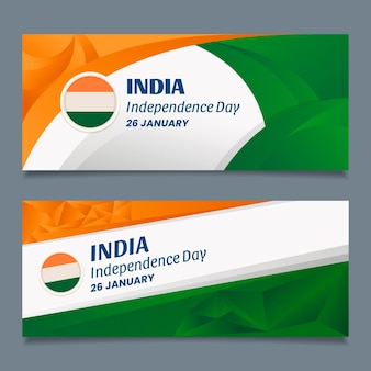 Flat republic day banner