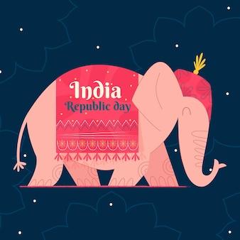 Плоский день республики иллюстрация