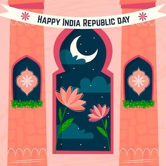 Illustrazione di giorno della repubblica piatta
