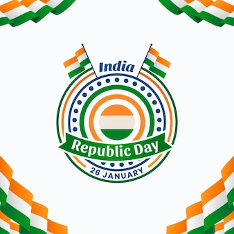Flat republic day illustration