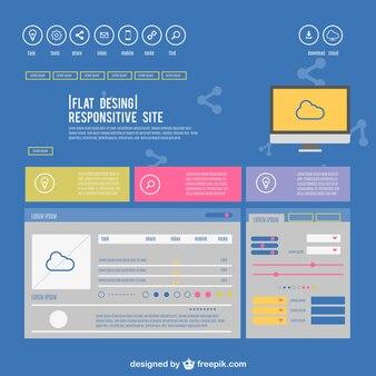 Flat responsive site design