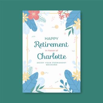 플랫 은퇴 인사말 카드 서식 파일