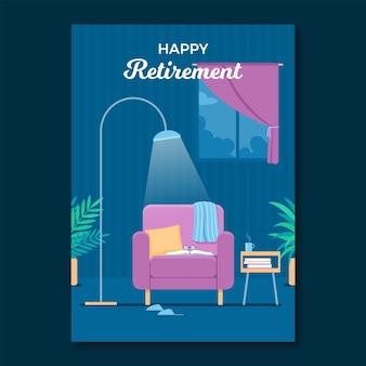 플랫 은퇴 인사 카드