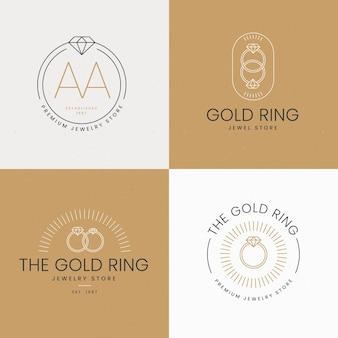 Flat ring logo templates
