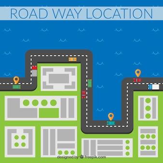 Flat road way località