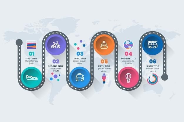 Flat roadmap infographic template