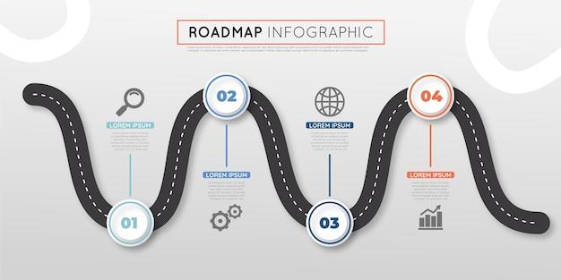 Infografica della tabella di marcia piatta