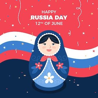 フラットロシアの日のイラスト