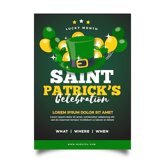 Flat saint patrick's day flyer template