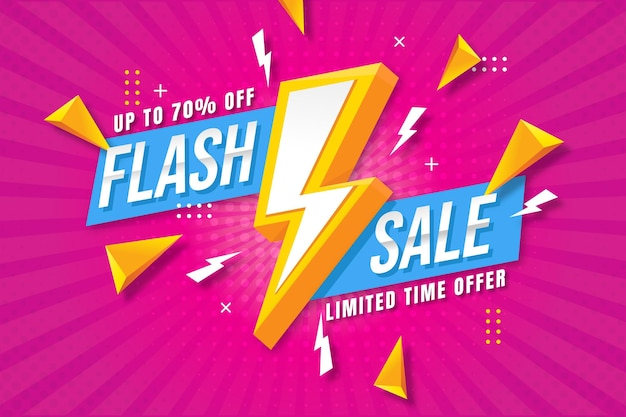 Flat sale background with discount