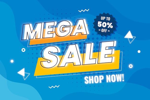 Flat sale background