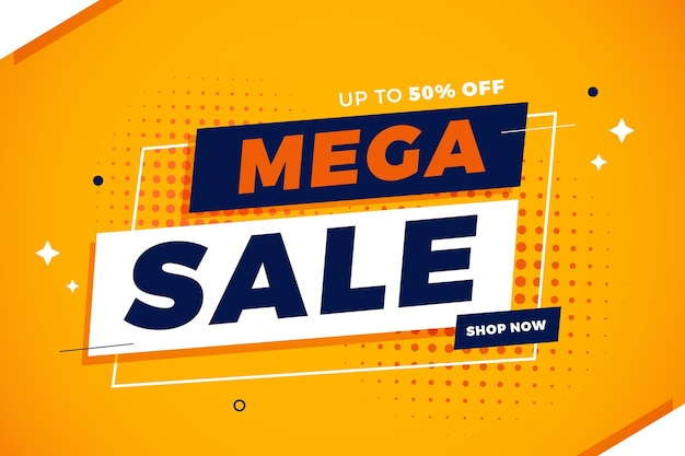 Flat sale background