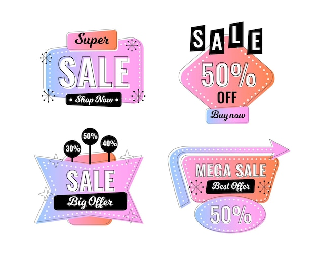Flat sale badge collection