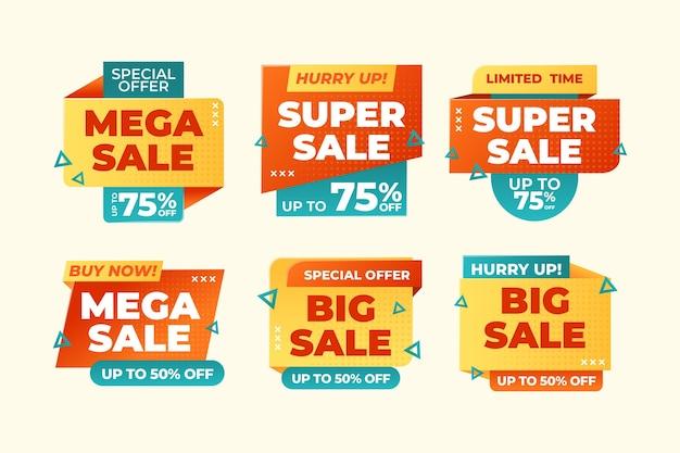 Flat sale badges collection