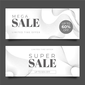 Design di banner di vendita piatta