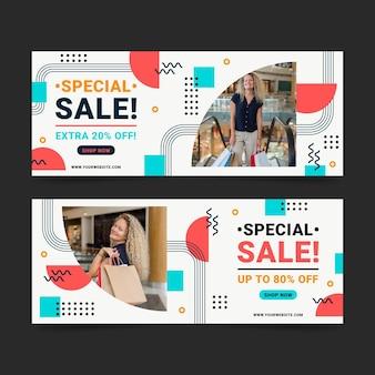 Плоские продажи баннеров с фото