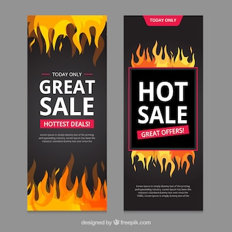 Banner di vendita piatta