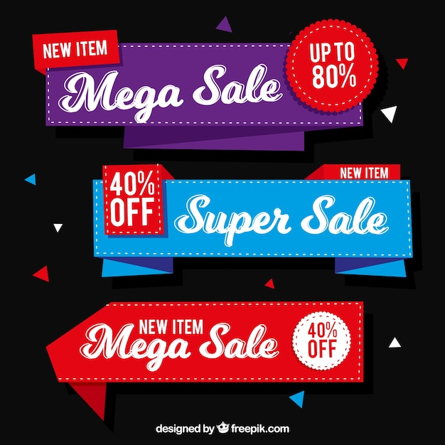 Flat sale banners