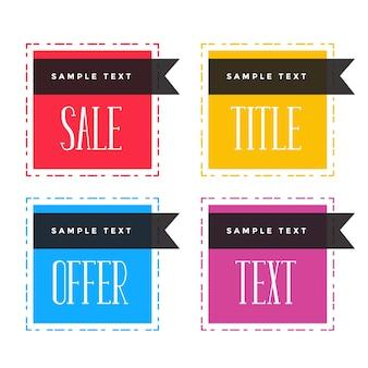 Flat sale frame banner label