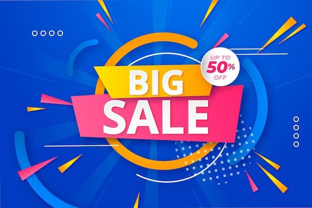 Flat sale illustration