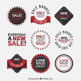 Collezione flat label / badge