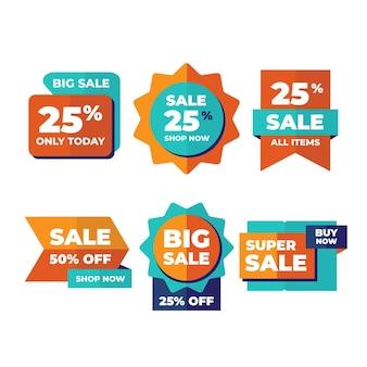 Flat sale labels collection
