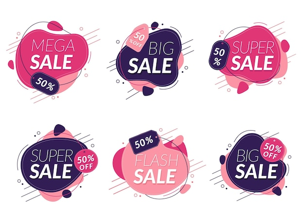 Flat sale labels with special discount