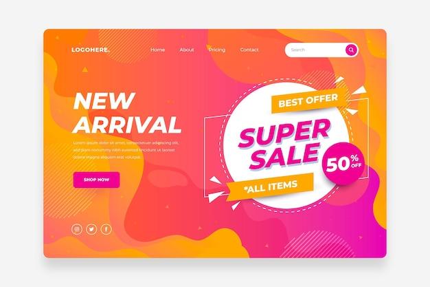 Flat sale landing page template