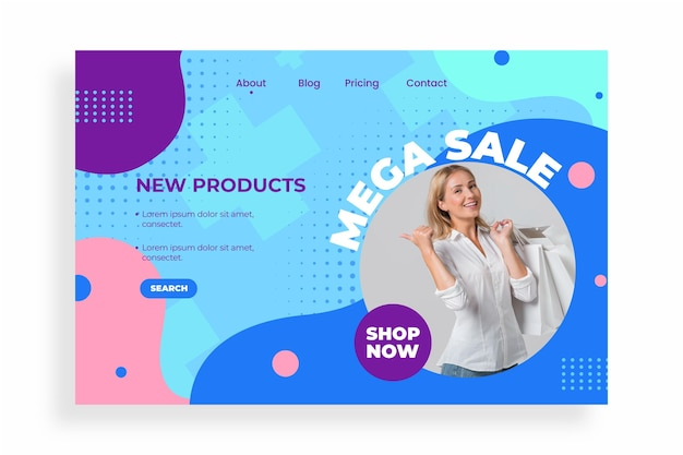 Flat sale landing page with photo