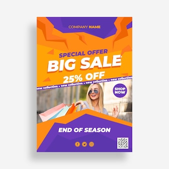 Flat sale poster with photo