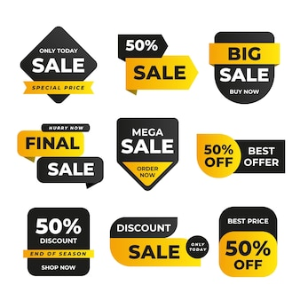Flat sale with discount badge collection