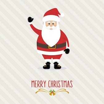 Flat santa claus background