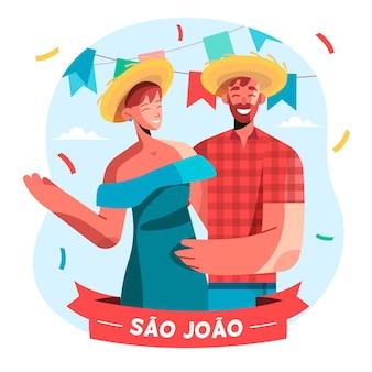 Flat sao joao illustration