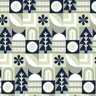 フラットなスカンジナビアのデザインパターン 無料ベクター