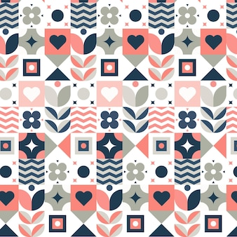 평면 스칸디나비아 디자인 패턴
