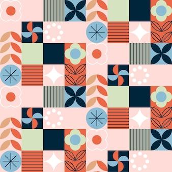 Flat scandinavian design pattern