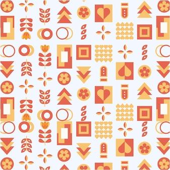 Плоский скандинавский шаблон дизайна